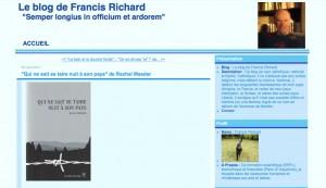 """""""Qui ne sait se taire nuit à son pays"""" sur le blog de Francis Richard."""