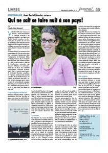 """""""Qui ne sait se taire nuit à son pays"""" dans le Journal de Cossonay, 4 octobre 2013."""
