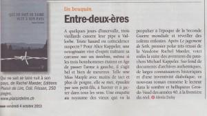 """""""Qui ne sait se taire nuit à son pays"""" dans Vigousse du 4 octobre 2013."""