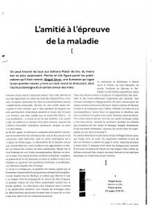 """""""Marine et Lila"""" dans la revue Les Lettres & les Arts."""