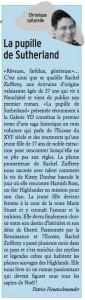 """""""La Pupille de Sutherland"""" dans Vivre ma ville du 18 décembre 2013."""