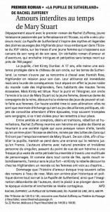 """""""La Pupille de Sutherland"""" dans Le Courrier du 15 février 2014."""