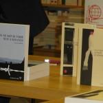 Les trois romans présentés durant cette soirée.