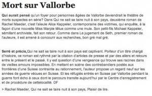 L'article de La Liberté.