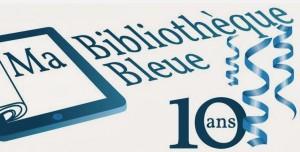 Le logo du blog Ma bibliothèque bleue.