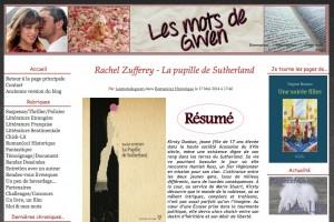 Le blog Les mots de Gwen.