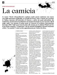 """""""La camicia"""" de Cornélia de Preux."""