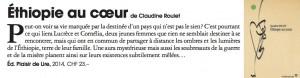 """Ethiopie au cœur"" dans Marie Claire Suisse."