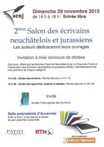 Salon des AENJ - Novembre 2015 - Affiche